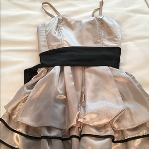 Forever21 Pale Gold Satin Party Dress, sz S